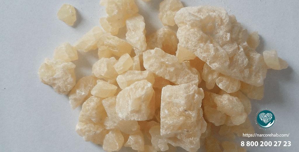Альфа-ПВП в кристаллах