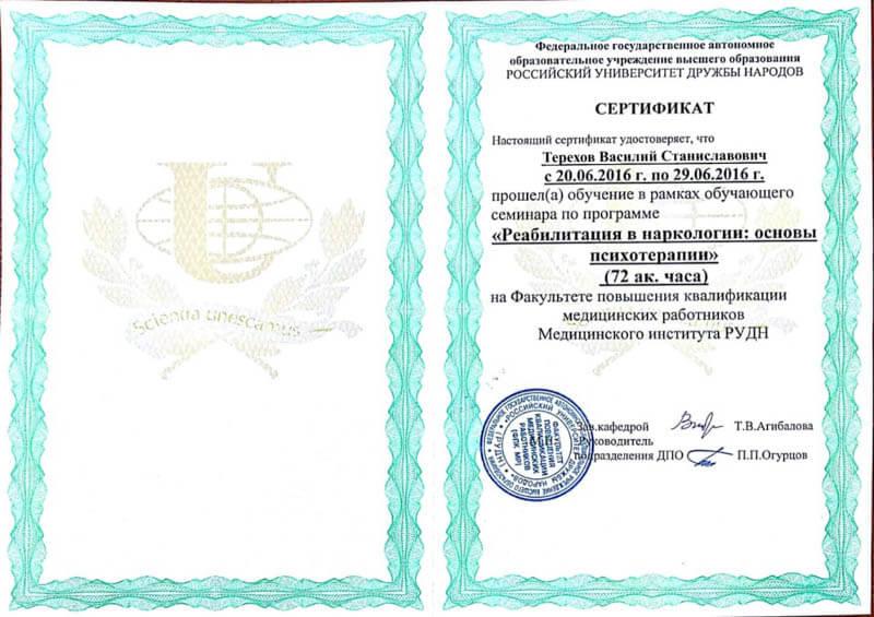 сертификат рудн терехов 2